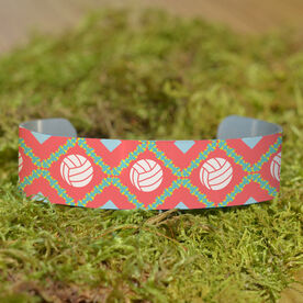 Volleyball Cuff Bracelet (Narrow) Volleyball Pattern