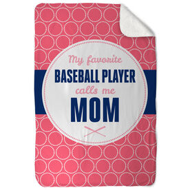 Baseball Sherpa Fleece Blanket My Favorite Player