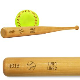 Softball Mini Engraved Bat Team Name, Season and Date