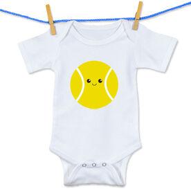 Tennis Baby One-Piece Mini Tennis Ball Smile (Boy)