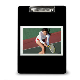 Tennis Custom Clipboard Tennis Your Photo Solid Background