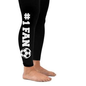 Soccer Leggings #1 Fan with Soccer Ball