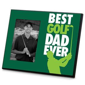 Golf Wood Frame Best Dad Ever