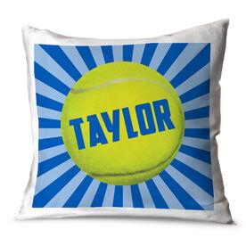 Tennis Throw Pillow Personalized Starburst Tennis Ball