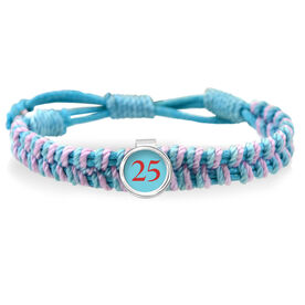 Your Softball Team Number Adjustable Woven SportSNAPS Bracelet