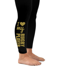 Rugby Leggings I Heart My Rugby Player