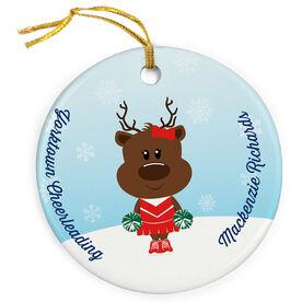 Cheerleading Porcelain Ornament Reindeer Cheer