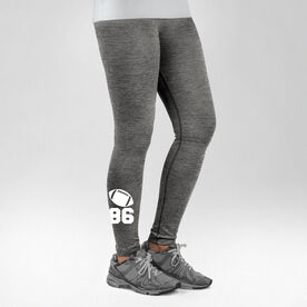 Football Performance Tights Football Icon with Number