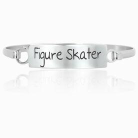 Figure Skating Engraved Clasp Bracelet Figure Skater