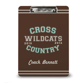 Cross Country Custom Clipboard Cross Country Team