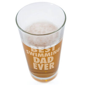20 oz. Beer Pint Glass Best Swimming Dad Ever