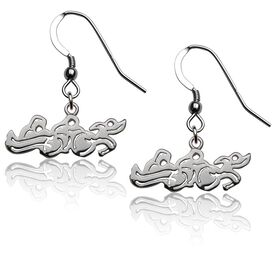 Sterling Silver Triathlon Earrings