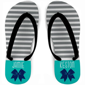 Cheerleading Flip Flops Personalized Stripes