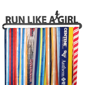 Race Medal Hanger Run Like A Girl MedalART