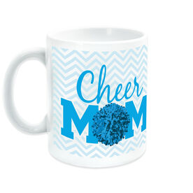 Cheerleading Ceramic Mug Mom with Pom Pom