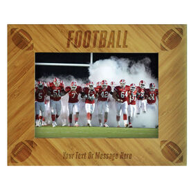 Football Bamboo Engraved Picture Frame Football
