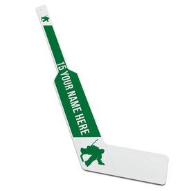 Personalized Knee Hockey Goalie Stick Player Silhouette
