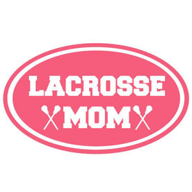 Lacrosse Mom Oval Vinyl Decal