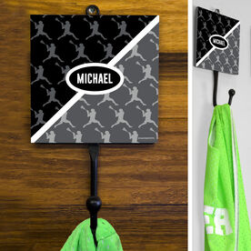 Guys Lacrosse Hook - Personalized 2 Tone Player Pattern