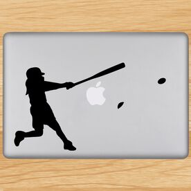 Softball Out The Park Removable ChalkTalkGraphix Laptop Decal