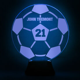 Soccer Acrylic LED Lamp Soccer Ball With Name and Number
