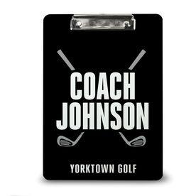 Golf Custom Clipboard Golf Coach