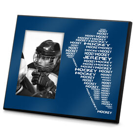 Hockey Personalized Photo Frame Personalized Hockey Player Words