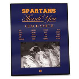 Basketball Photo Frame Thank You Coach Roster