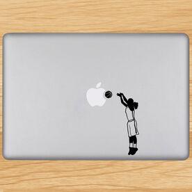 Basketball Girl Silhouette Removable ChalkTalkGraphix Laptop Decal