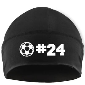 Beanie Performance Hat - Soccer Ball with Number