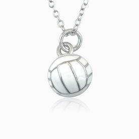 Volleyball Enamel Volleyball Pendant Necklace