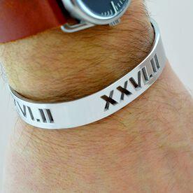 26.2 Marathon Roman Numeral Mens Cuff Bracelet