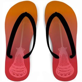 Guys Lacrosse Flip Flops Faded Stick