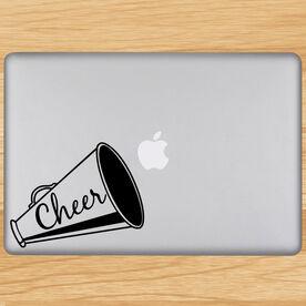 Cheer Megaphone Removable ChalkTalkGraphix Laptop Decal