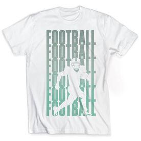Vintage Football T-Shirt - Fade Silhouette