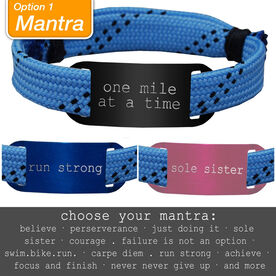 RaceLACE Mantra Bracelet - BLUE