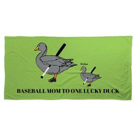 Baseball Beach Towel Mom Lucky Ducks