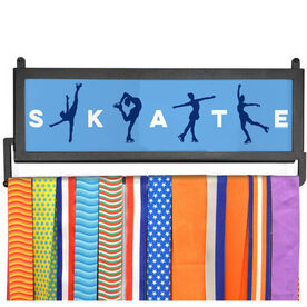 AthletesWALL Medal Display - Skate With Silhouettes