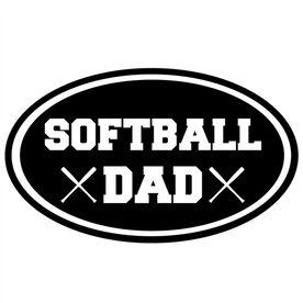 Softball Dad Oval Vinyl Decal