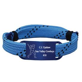 Personalized Softball Lace Bracelet Player Adjustable Sport Lace Bracelet