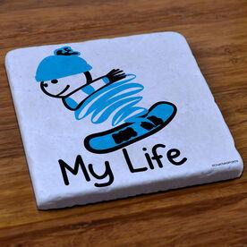 Snowboarding Stone Coaster - My Life Snowboard
