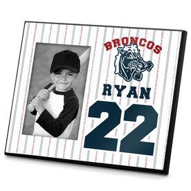Baseball Photo Frame Team Logo Name and Number
