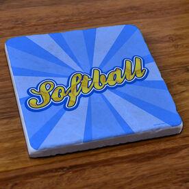 Varsity Softball Rays - Stone Coaster