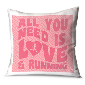 Running Throw Pillow All You Need Is Love And Running