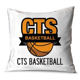 Basketball Throw Pillow Custom Basketball Logo With Team Name