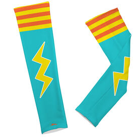 Printed Arm Sleeves Lightning Bolt