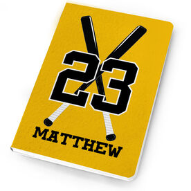 Baseball Notebook Personalized Crossed Bats