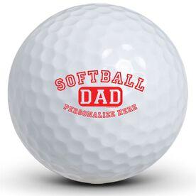 Softball Dad (Block Logo) Golf Balls