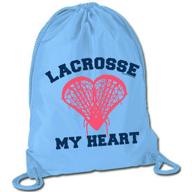 Lacrosse Sport Pack Cinch Sack Lacrosse My Heart