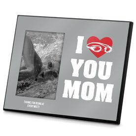 Swimming Photo Frame I Heart You Mom Swim